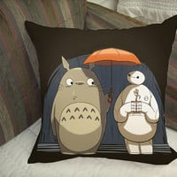 baymax groot and gotoro together pillow case best quality pilllow