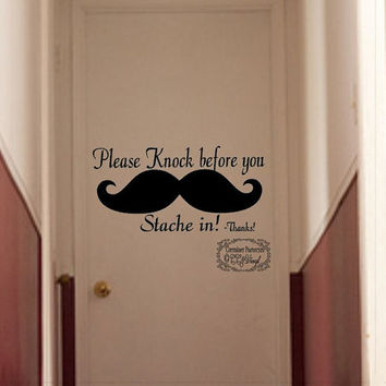 Please Knock Vinyl Wall Decal