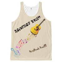 acoustic's rule All-Over-Print tank top