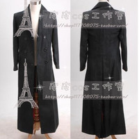 Doctor Who Black Long Trench Coat Cosplay