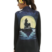 Disney The Little Mermaid Ariel Moon Silhouette Girls Flyaway Cardigan