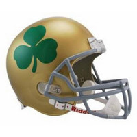 NCAA Notre Dame Fighting Irish Shamrock Deluxe Replica Football Helmet