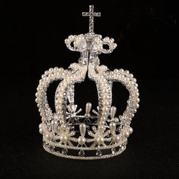 Elaina Vintage Pearl Princess Crown