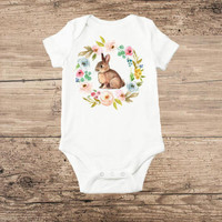 Bunny Wreath Onesuit (Infant)