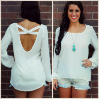 Lourdes White Bishop Sleeve Top