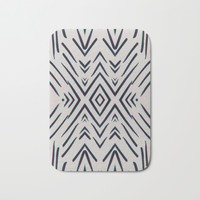 Geometric whatever Bath Mat by duckyb