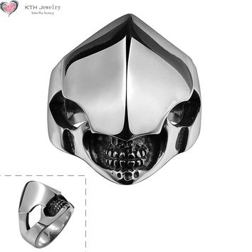 GMYR141 Alien Easter Halloween Punk Ring 316L Stainless Steel Titanium Jewelry
