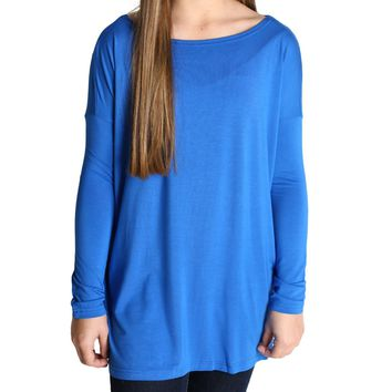 Blue Piko Kids Long Sleeve Top