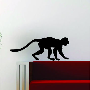 Monkey Silhouette Decal Wall Vinyl Art Decor Room Animal Beautiful Gorilla Harambe