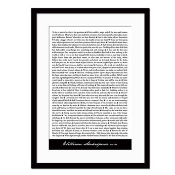 56 Shakespeare Quotes - Typography Art Print - Shakespeare Art Print - Theatre Poster - British Literature - Literary Art - Gift for Actor