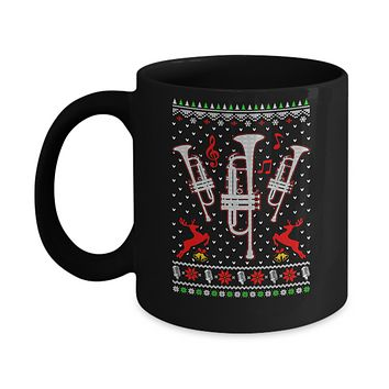 Santa Trumpet Ugly Christmas Sweater Gifts Mug