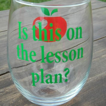 Best Teacher Decal Products On Wanelo - Wine glass custom vinyl stickers