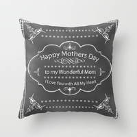 Mothers Day Throw Pillow by CatDesignz
