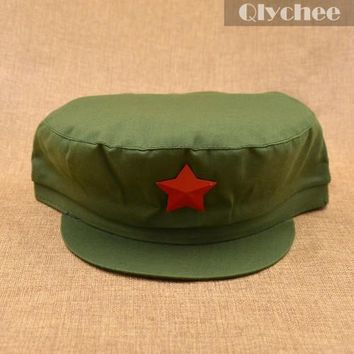 Nostalgic Style Communist Party Of China Red Army the 8th Route Army Hats Lei Feng Caps Red Star Military Hats