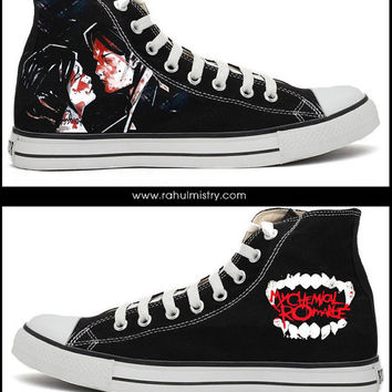 My Chemical Romance HandPainted Converse Shoes