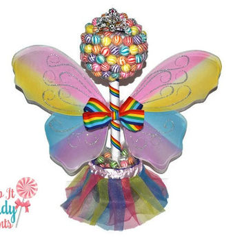Rainbow Lollipop Butterfly Fairy Princess Topiary