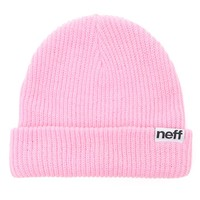 Neff Fold Beanie - Womens Hat - Pink - One