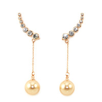 Pearl Drop Ear Climbers
