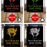 Beauty salon sign | Digital sign | Hairstylist | Hairdresser | Business sign | Custom sign | Customizable | Welcome sign |  Poster
