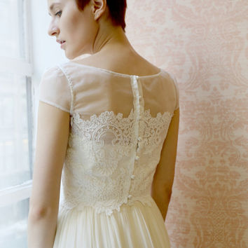 Clothilde--Lace wedding top separate