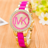 Rose MK Fashion Classic Watch Round Ladies Women