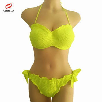 women swimwear brazilian biquinis sexy bikini women swimsuit bandeau top layered swimwear brand women crochet bikinis
