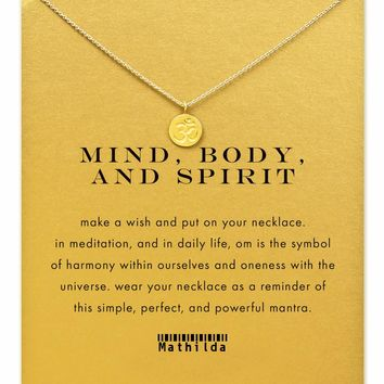 Mind, Body, and Spirit Om Necklace (Gold Dipped)