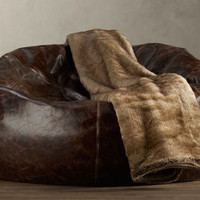The Green Head - Grand Leather Bean Bag Chair
