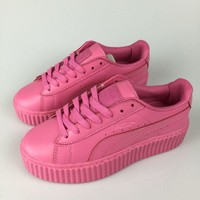 puma fenty by rihanna plum creepers women s leather shoes  number 3
