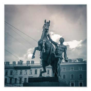 """The Horse Tamers"", St.Petersburg, Russia. Photo Print"