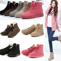 Women's Fashion Boots Comfort Shoes Flat Lace UP Ankle Winter Warm Snow Boot [7654118022]