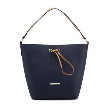 Blu Byblos Blue Leather Shoulder Bag