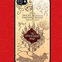 Personalized iPhone 5 case iPhone 5 case - Harry Potter marauder's map Photo -plastic Iphone cover iphone 5 cover