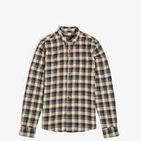 L/S Plaid Clean Seam Shirt