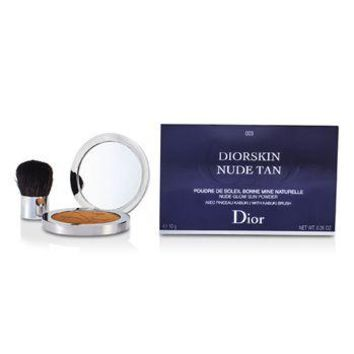 Christian Dior Diorskin Nude Tan Nude Glow Sun Powder (With Kabuki Brush) - # 003 Cinnamon Make Up