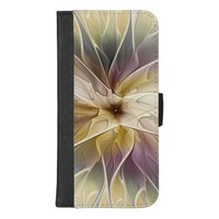 Floral Fantasy Gold Aubergine Abstract Fractal Art iPhone 8/7 Plus Wallet Case