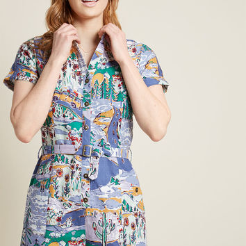 Lighthearted Cartographer Romper in Road Trip