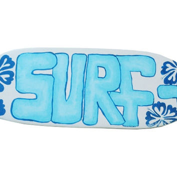 Surfboard Surf Sign, 18 x 6.5 inch Surf Board Wall Art, Surfer Room Decor Surfing Decoration Surf Shack Home Decor