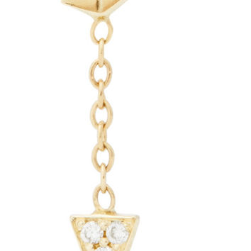 Jennie Kwon Designs - Arrow 14-karat gold diamond earring