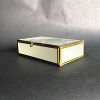 Glass Jewelry Box | Rectangle Glass Box | Miniature Terrarium Box | Glass Ring Box