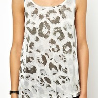 Noisy May Faded Animal Vest at asos.com