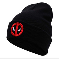 Men And Woman Soft Skullies Winter Hats Women Beanies Outdoor Ski Sports Warm Baggy Men Deadpool Hats Bonnet Knitted Female Caps
