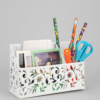 Urban Outfitters - Floral Cutout Magnetic Desktop Organizer