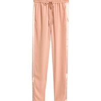 H&M Joggers with Satin Stripes $34.99