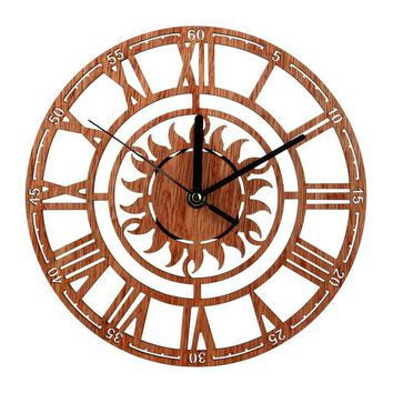 Vintage Silent Antique Wood Wall Clock