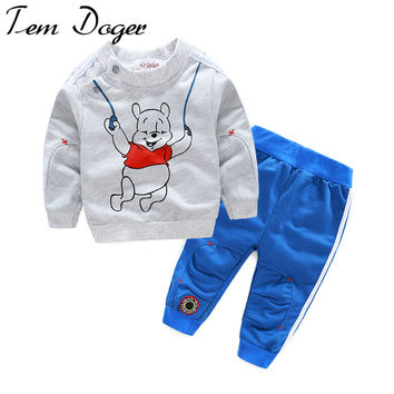 autumn baby boy girl clothes Long sleeve Top + pants 2pcs sport suit baby clothing set newborn infant clothing bebe