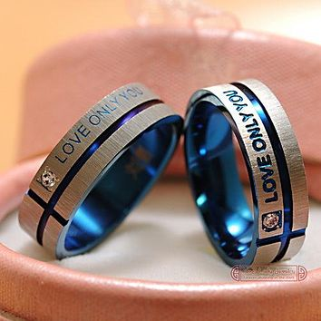 1 Piece!!!  Wedding Rings Band Jewelry Couple Rings, his and hers promise ring  For men and women