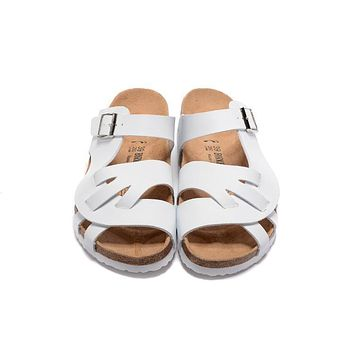 Birkenstock New Style 2 Summer Fashion Leather Cork Flats Beach Lovers Slippers Casual