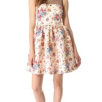 RED Valentino Polka Dot Flower Dress | SHOPBOP