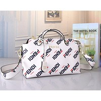 FENDI Trending Women Stylish Leather Handbag Tote Shoulder Bag Crossbody Satchel White
